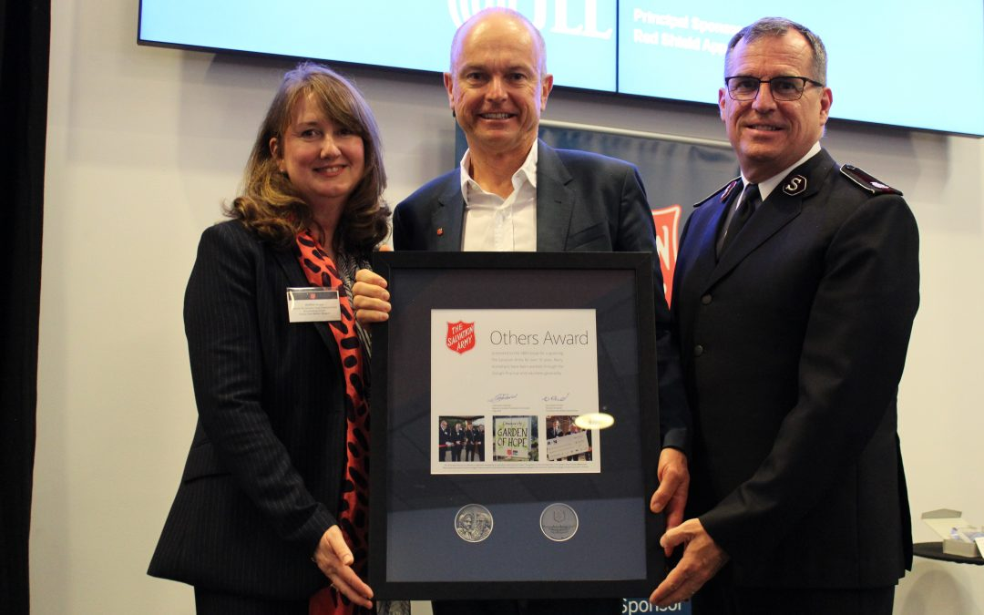 Dale Alcock honoured with top Salvos award
