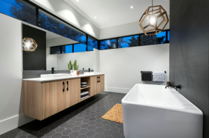 2016 Kitchen & Bathroom Awards Winner, Bathroom in a Display Home, The Maker Designer Kitchens $420,001 – $500,000, The Cambridge