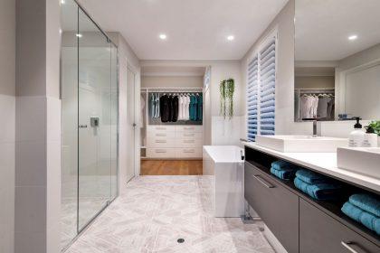 Bathroom in a Display Home $480,001-$550,000 'Phoenix' The Maker Designer Kitchens & Webb&Brown-Neaves