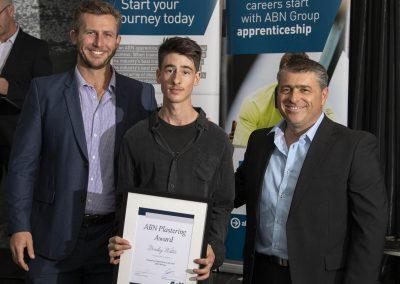Bradley Water Plastering award
