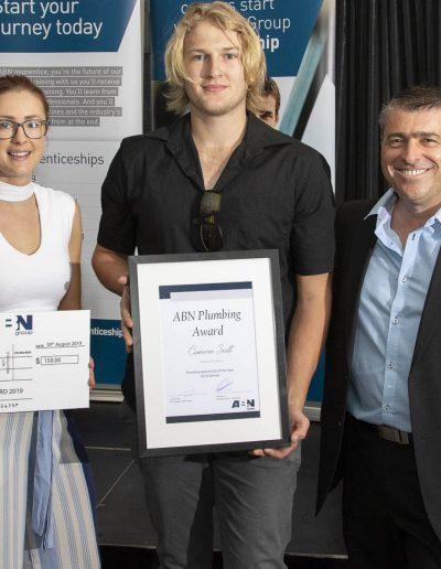 Cameron Scott Plumbing award