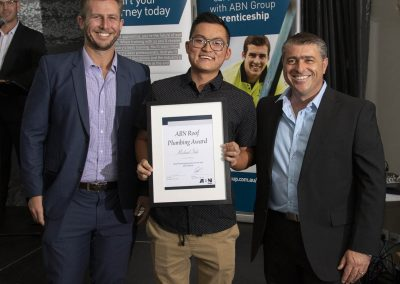 Michael Soh Roof plumbing award